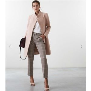 NWT Reiss Mabel trench long coat blush pink